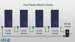 seriesDiagram_updated 300x168 how to wire solar panels in parallel or series hes pv blog hes pv