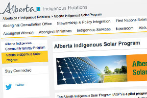 Alberta now accepting applications for Indigenous renewables