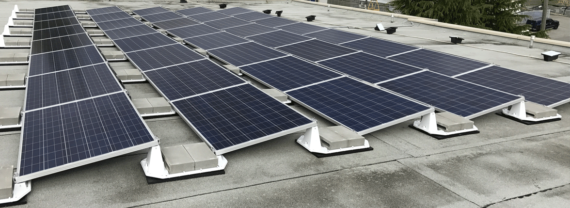 Flat Commercial Roof Solar Solutions Applications Commercial Hes Pv