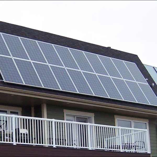 Grid-tied 4 7 kW roofmounted system (Acreage just outside of