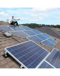 Bear Mountain Solar Home: 4kW MicroBlox Reduces Electrical Costs by +40%