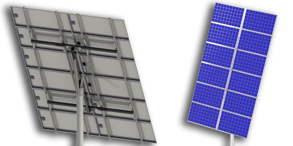 12 panel solar pole mount